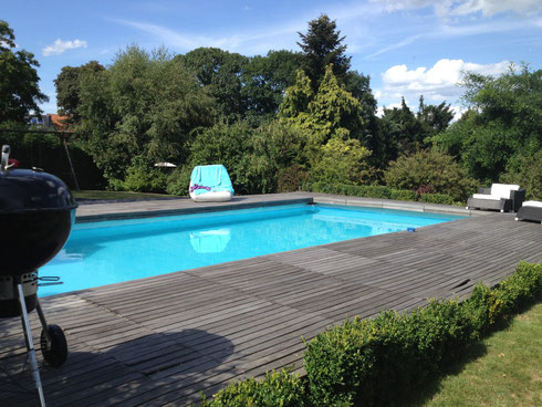 Mon intex hors sol enterr e piscines r alisations for Piscine hors sol qui s effondre