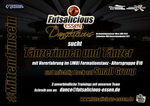 """Die Futsalicious Essen-""""Großfamilie"""" ist TNW JMD-Verbandsligameister West 2014! (Foto: Sarah Gibson)"""