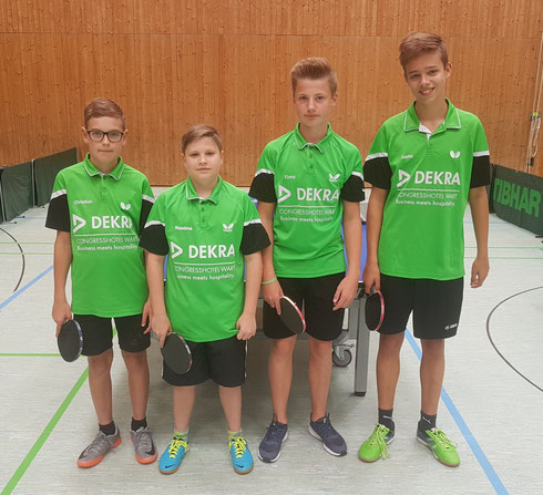 von links: Christian, Maxime, Timo, Justin