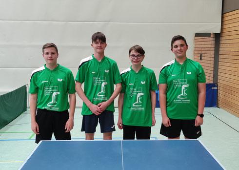 von links: Stefan, Luca, Sascha, Matthias