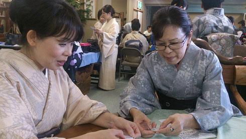 大島紬帯留め政策体験