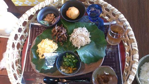 奄美大島紬美術館 鶏飯(けいはん)料理 あゆみキモノ学院産地研修