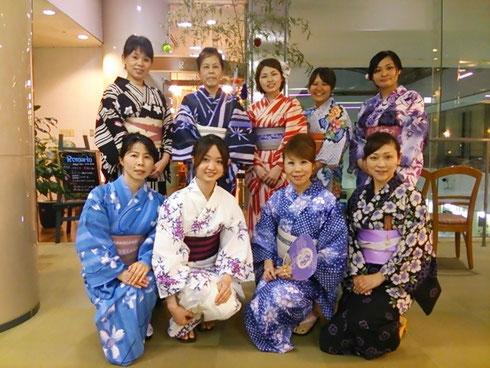 あゆみキモノ学院 ゆかた会 岐阜県下呂市ホテルパストール