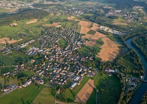 Luftbild Ottenbach aufgenommen am 16.August 2013