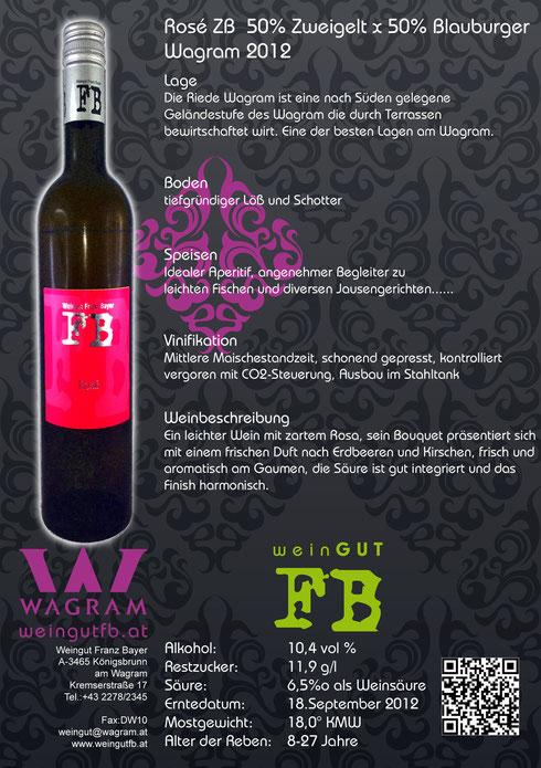 Rosé Weingut Franz Bayer Königsbrunn am Wagram