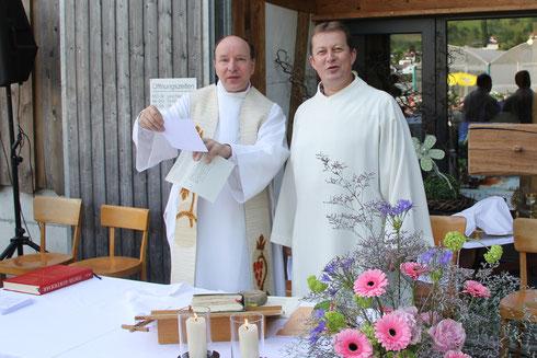Abschied von Pfarrer Albert Wicki und Pastoralassistent Donat Haltiner im 2015.