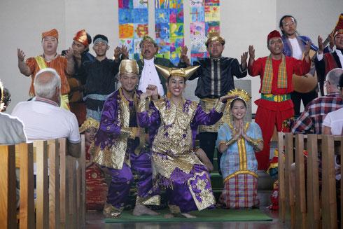 """Der Chor """"Mia Patria"""" gastierte im September 2016 im Rheintal."""