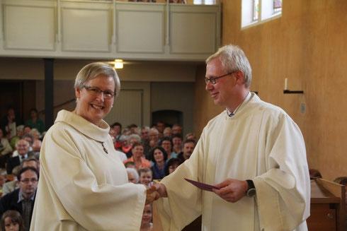 Pastoralassistentin Ursina Knobel wurde am 29. Juni in Hinterforst verabschiedet.