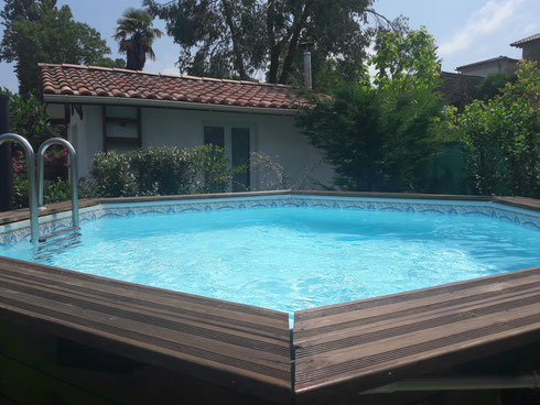 la piscine hors sol de 4.75m/1.20