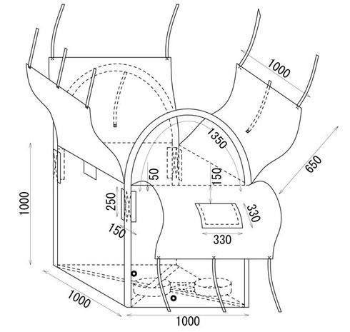 網(メッシュ)パレット用角型特殊フレコンバック