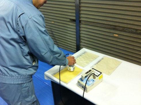 PP土木安定シート放射線測定状況