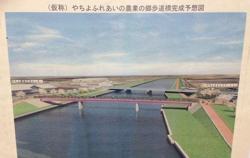 やちよふれあいの農業の郷歩道橋完成予想図