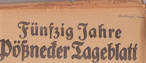 Pössnecker Tageblatt vom 1.12.1926