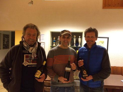 Die Gewinner v.l.n.r.: Horst Hegel (3.), Gerd Lehnert (1.), Udo Meuer (2.)