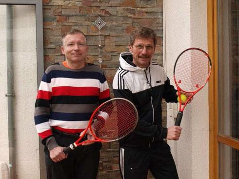 Unsere Trainer (DTB-Lizenz) Bernd (links) und Udo (rechts)