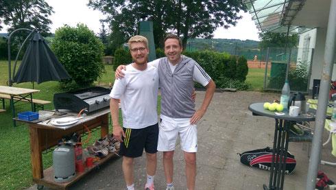 die Finalisten: Johannes Gorgulla (links) und André Krämer (rechts)
