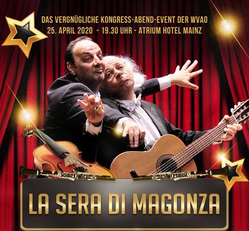 WVAO Abendveranstaltung: La sera di Magonza 25. April 2020 - 19.30 Uhr - Atrium Hotel Mainz