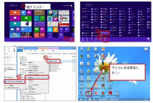 Windows8 ショートカットの作り方