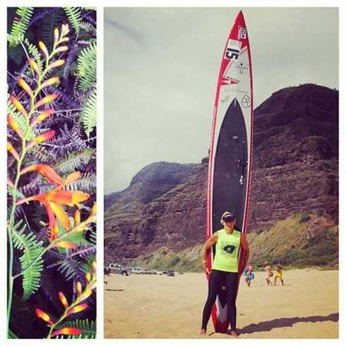 With my downwindboard SIC Bullet 17.4 in Kauai