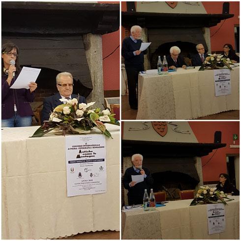 Le jury du xxv ème concours de poésie réunit dans le château de Piossaco le 3 novembre 2018