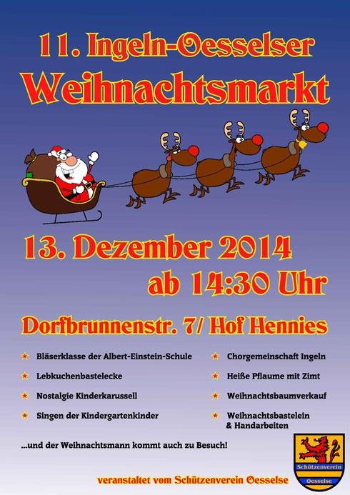 Einladung zum Weihnachtsmarkt 2014 in Ingeln-Oesselse