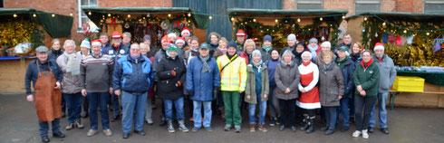 Das Team des 16. Weihnachtsmarktes in Ingeln-Oesselse