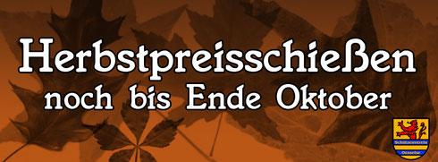 Herbstpreisschießen beim SV Oesselse noch bis Ende Oktober 2014
