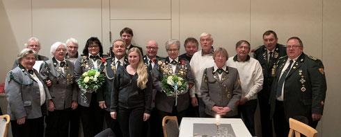 Lob und Anerkennung: die geehrten Mitglieder der Jahreshauptversammlung 2019