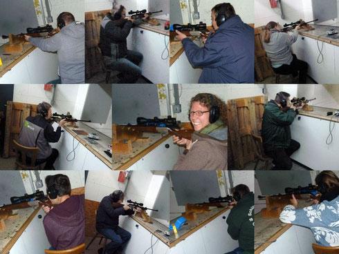 Oesselser Schützen probieren Jagdkaliber aus
