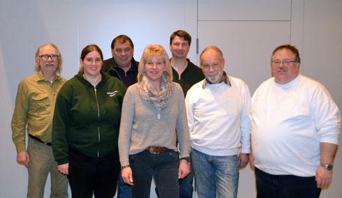 Vereinsmeister 2016 v.l.n.r. Michael Najuch, Julia Diener, Günter Mechler, Edda Rudolph-Holzapfel, Oliver Najuch, Klaus Specht und Heiko Fichte