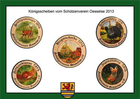 Königsscheiben 2013 SV Oesselse, Schützenverein Oesselse