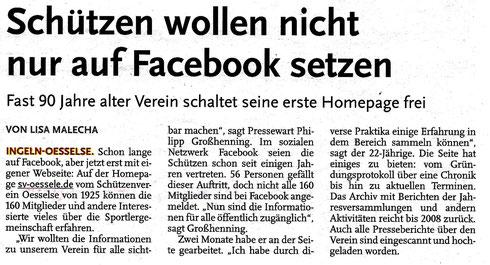 SV Oesselse, Leine-Nachrichten, Zeitungsbericht