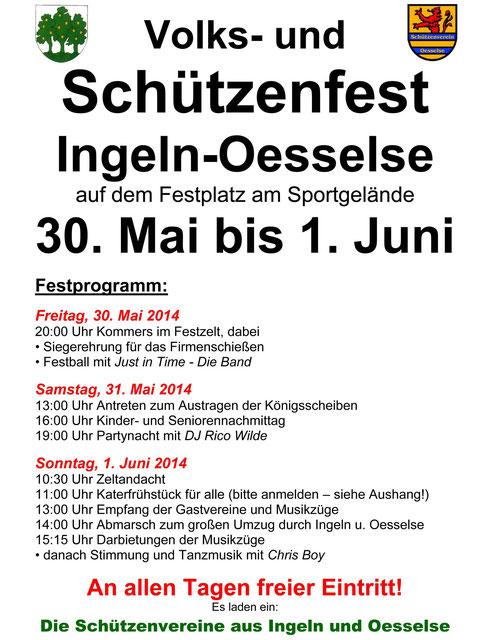Schützenfest 2014 in Ingeln-Oesselse