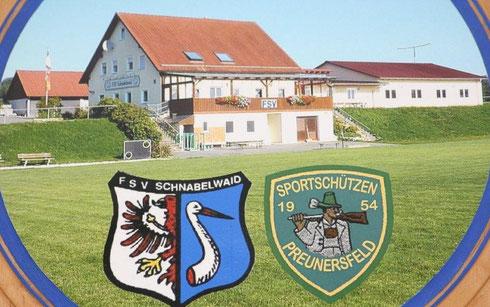 Unser Schützenhaus auf dem Gelände des FSV Schnabelwaid