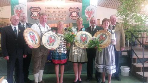 Gau-Luftpistolen-König Diemar Hemm und Gau-Jugendkönigin Elena Hemm 2014
