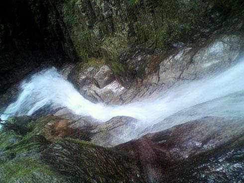 ⑥9m滝を上から その昔、ここを滑り落ちました(^_^;)
