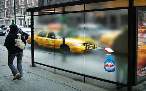 分かりやすい!ガラスクリーナーの広告