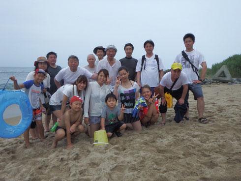 恒例の夏の合宿での海水浴で!!(2013年7月27日、28日)