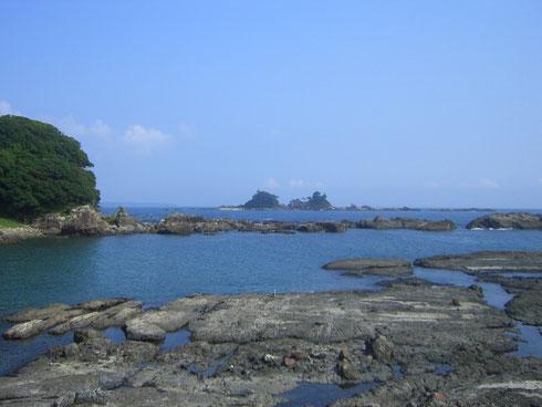 田子のあたり 潮岬を遥かに望む
