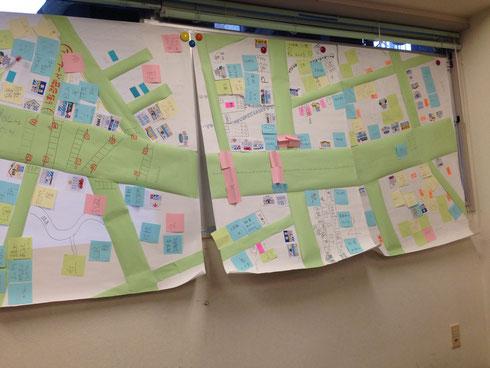 自分の街の地図ができました
