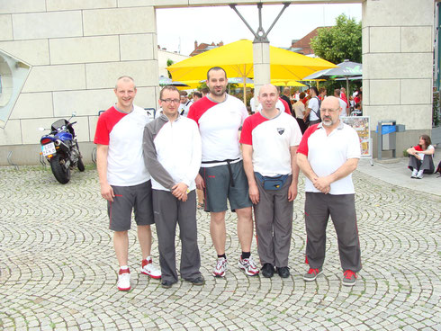 Sifu Karl-Heinz Schwarz mit Ausbilderteam in Hockenheim