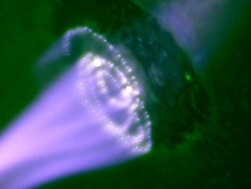 10. Визуализация структуры магнитного поля Земли (эфира) рассматривая дугу тока в микроскоп Image