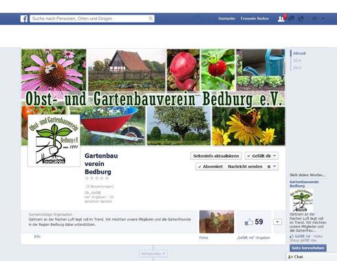 facebook Fanpage des Gartenbauvereins Bedburg