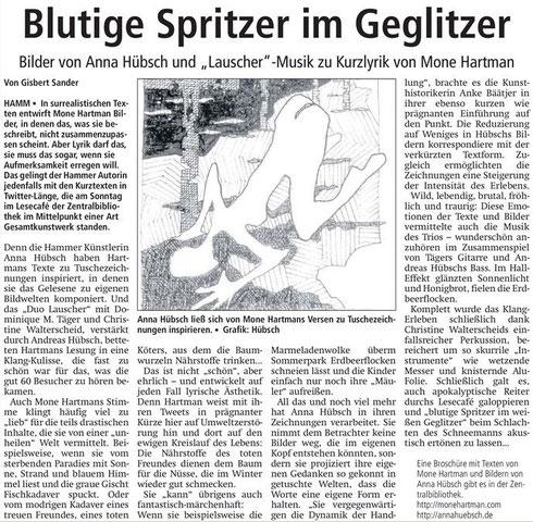 Artikel (c) Gisbert Sander nach der ersten Aufführung im Februar 2013