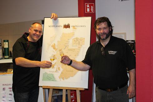 Thomas Hoppe und Marc Podubrin nach getaner Arbeit am 26.09.14