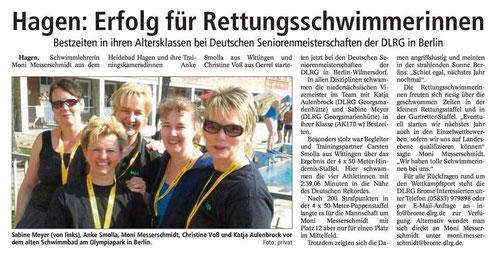 Isenhagener Kreisblatt berichtet von den Deutschen Meisterschaften in Berlin