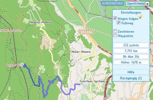 Ein Beispiel der Tourenplanung mit GPSies.