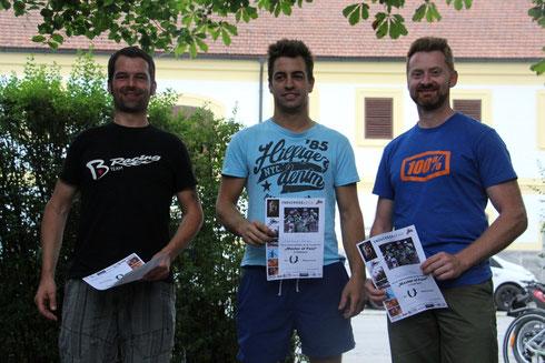 Klaus, Gegi, Mario (und Florian) machten das Rennen spannend!