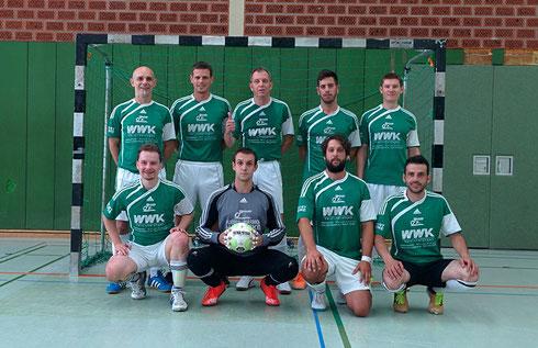 Die Futsal SG Ruhrgebiet West bei der Ligapremiere am 05.09.2015 (Foto: Gött)