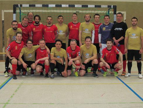 Die FSG Ruhrgebiet West am 04.02.2017 in Mönchengladbach mit den Gastgebern von FF Mönchengladbach 07 (Foto: Bühl)